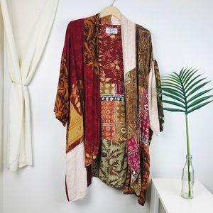 Wild Thing Wild Woman Patchwork Boho Kimono Duster